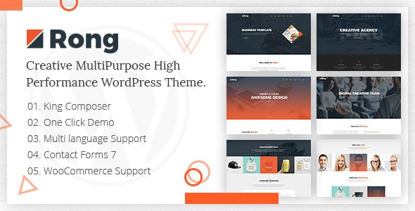 Rong - MultiPurpose Creative WordPress Theme - Creative WordPress