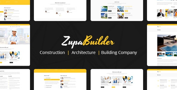 ZupaBuilder – Building and Architectural PSD Template - Business Corporate