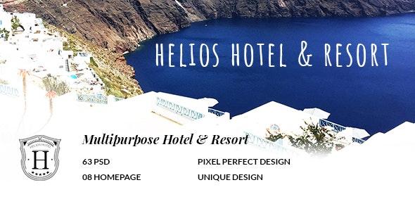 HELIOS - Multipurpose Hotel & Resort PSD Template - Photoshop UI Templates