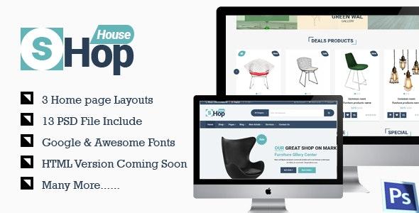 Shop House Commerce PSD Template - Photoshop UI Templates