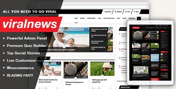 ViralNews - Buzz WordPress theme - News / Editorial Blog / Magazine