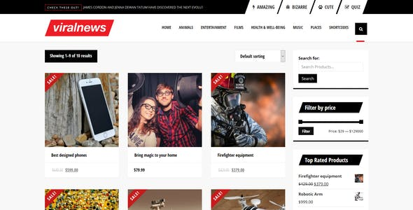 ViralNews - Buzz WordPress theme