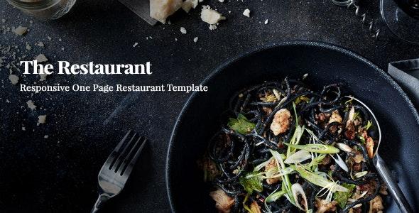 Restaurant    Responsive One Page Template - Restaurants & Cafes Entertainment