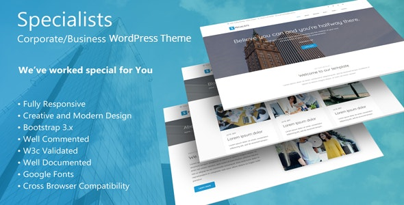 Specialists - Corporate/Business WordPress Theme - Corporate WordPress