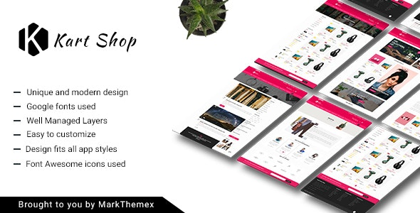 Kart Multipurpose Ecommerce PSD Template - Shopping Retail