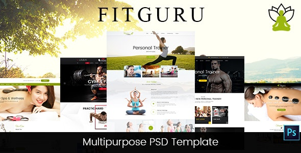 FitGuru - Gym, Fitness, Spa, Yoga, Trainer PSD Template - Health & Beauty Retail