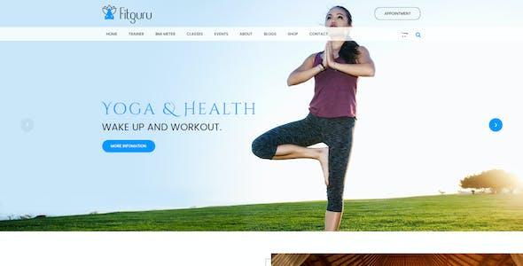 FitGuru - Gym, Fitness, Spa, Yoga, Trainer PSD Template