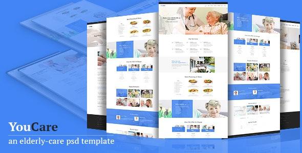 Youcare - Elderly Care PSD Template - Business Corporate