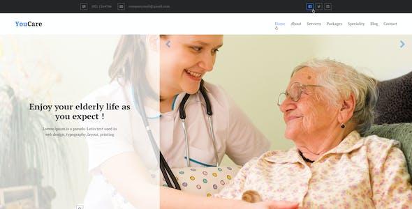 Youcare - Elderly Care PSD Template