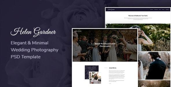 Helen - Elegant Wedding Photography PSD Template - Photography Creative