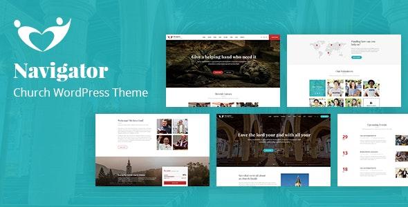 Navigator - Nonprofit Church WordPress Theme - Churches Nonprofit