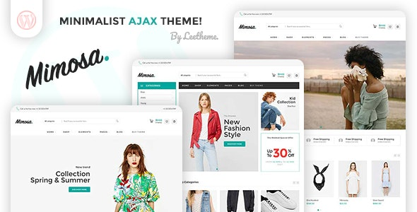 Mimosa - Minimalist AJAX WooCommerce WordPress Theme - WooCommerce eCommerce