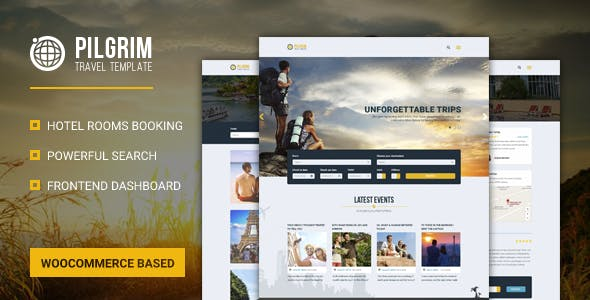 Pilgrim — Travel Booking WordPress Theme