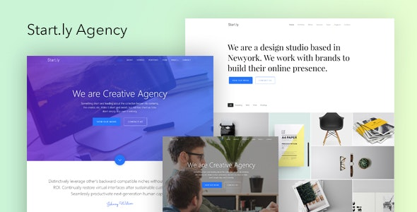 Start.ly — Agency One Page Parallax Website Template - Portfolio Creative