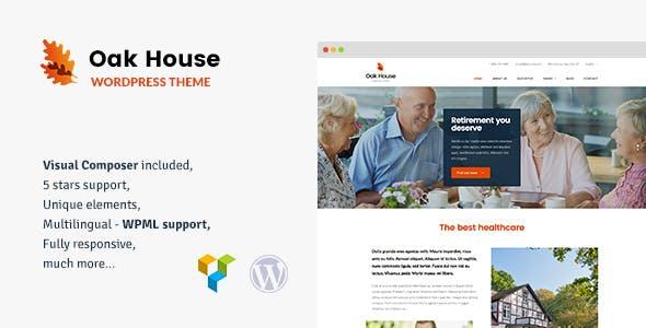 Oak House - Senior Care, Retirement, Rehabilitation WordPress Theme