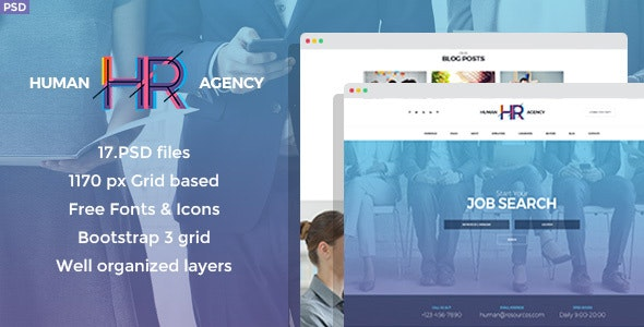Human Agency - HR PSD Template - Business Corporate