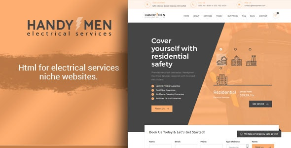 HandyMen - Electrical Services HTML Template - Miscellaneous Site Templates