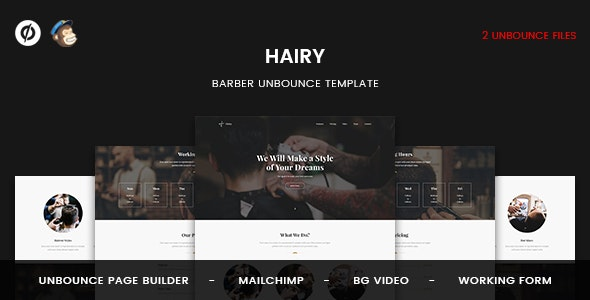Hairy - Barber Unbounce Template - Unbounce Landing Pages Marketing