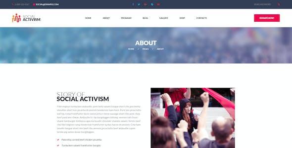 Social Activism - Non-Government Organization PSD Template