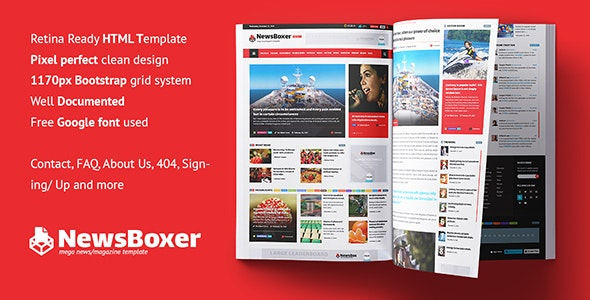 NewsBoxer - Mega News Magazine Template - Miscellaneous Site Templates