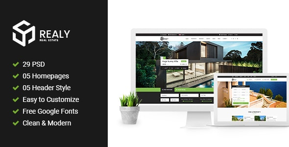 Realy | Real Estate PSD Template - Business Corporate