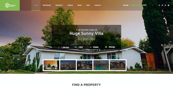 Realy   Real Estate PSD Template
