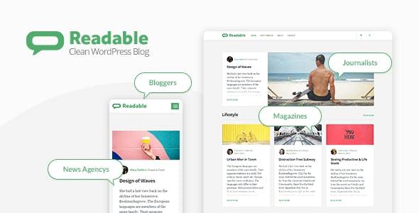 Readable - Blogging WordPress Theme Focused on Readability