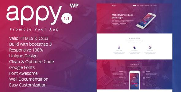 appy | App Landing WordPress Theme - Technology WordPress