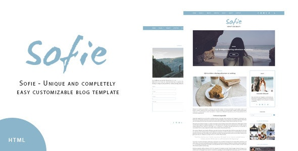 Sofie - Unique and completely easy customizable blog template - Personal Site Templates