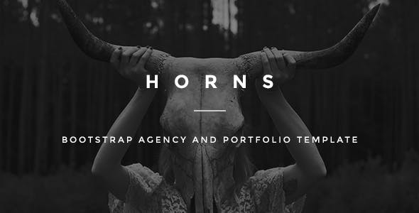 HORNS-Bootstrap Agency and Portfolio Template
