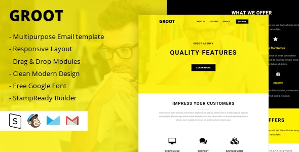 Groot Multipurpose Email Template - Email Templates Marketing