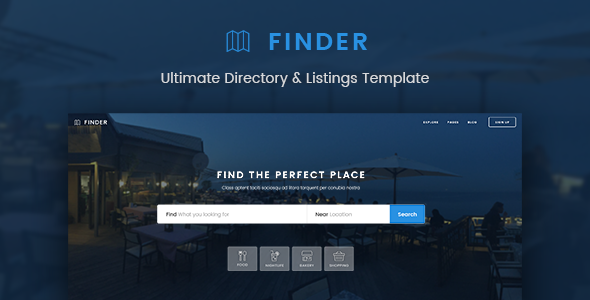Finder - Ultimate Directory & Listings Template - Miscellaneous PSD Templates