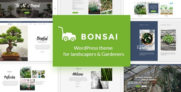 Bonsai - WP Theme for Landscapers & Gardeners - Retail WordPress