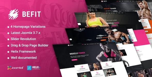 BeFit - Gym & Fitness Joomla template
