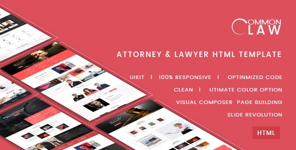 Common Law - Attorney & Lawyer HTML Template - Business Corporate