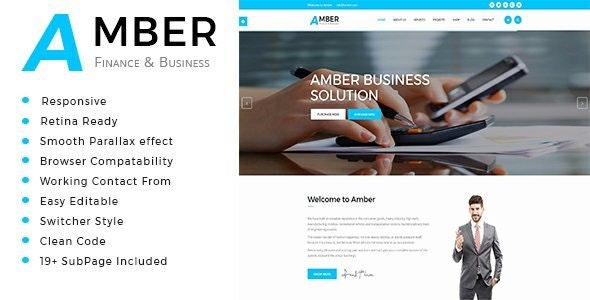 Amber - Business Consulting and Professional Services HTML Template - Business Corporate