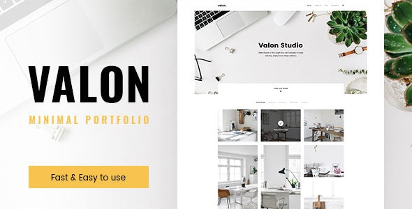 Valon - Minimal Portfolio WordPress Theme - Portfolio Creative