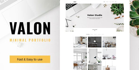 Valon - Minimal Portfolio WordPress Theme
