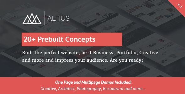 Altius Multi-Purpose WordPress Theme with Visual Composer - WordPress