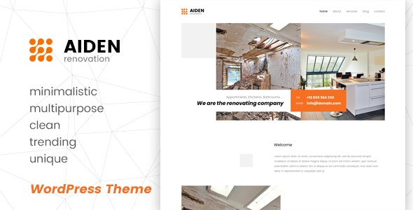 Aiden - Minimalistic Multipurpose WordPress Theme - Business Corporate