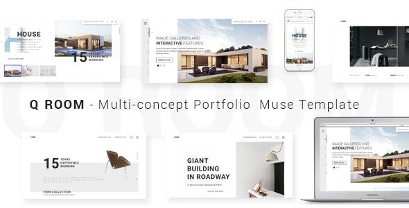 Q ROOM -2.0 Multi-concept Portfolio  Muse Template - Creative Muse Templates