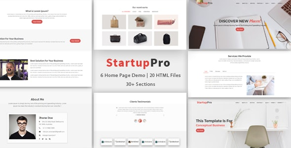 StartupPro - Multipurpose Bootstrap Template - Business Corporate