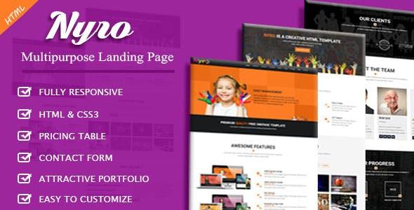 Nyro - Multipurpose Landing Page