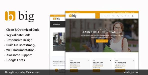 BIG || Multipurpose HTML Template - Corporate Site Templates