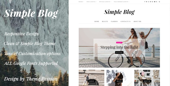 Simple Blog - Clean Responsive WordPress Blog Theme - Personal Blog / Magazine