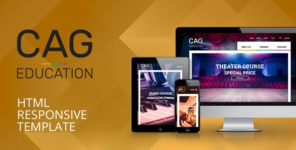 CAG Education & Course Responsive HTML Template - Business Corporate