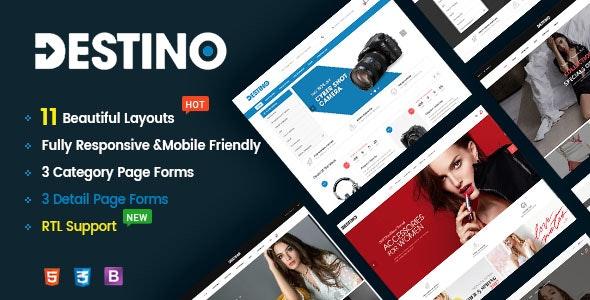 Destino - Responsive & Multi-Purpose HTML5 Template - Retail Site Templates