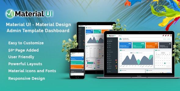 Material UI - Material Design Admin Template Dashboard - Admin Templates Site Templates