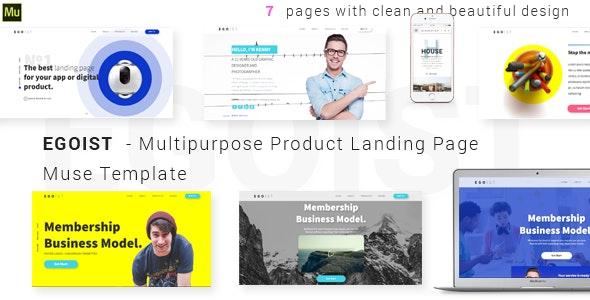 EGOIST - Multipurpose Product Landing Page  Muse Template - Landing Muse Templates