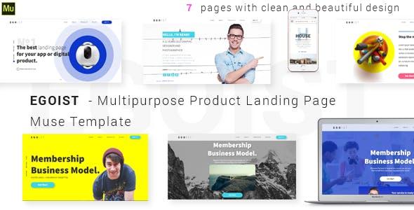 EGOIST - Multipurpose Product Landing Page  Muse Template